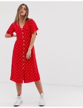 789879575dd Wednesday's Girl button down midi dress in spot print