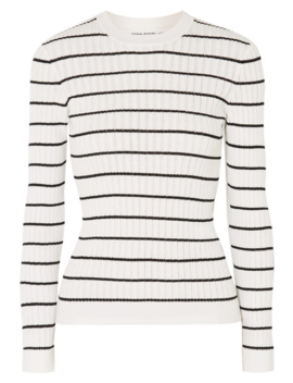 striped-ribbed-knit-cotton-blend-top by sonia-rykiel