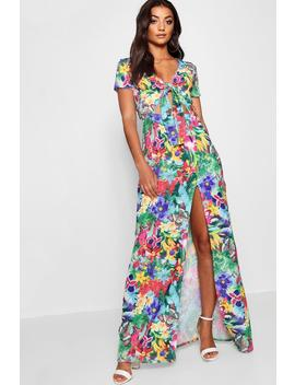 tall-floral-print-tie-front-maxi-dress by boohoo