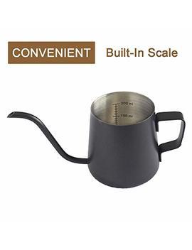 mezzox-stainless-long-spout-drip-kettle-8fl-oz,-240ml,-narrow-gooseneck-hand-pour-over-coffee-pot,-thick-304-stainless-steel,-durable-black-teflon-coated-thailand-import by mezzo-mezzox
