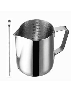frothing-pitcher,-liyahog-20oz-stainless-steel-creamer-milk-frothing-pitcher---measurements-inside---perfect-for-espresso-machines,-milk-frothers,-latte-art-(600ml-_-20oz) by liyahog