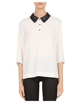 lisette-peter-pan-collar-blouse by gerard-darel