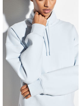funnel-neck-pullover-sweatshirt by vince