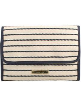 navy-stripe-hanging-organizer by tartan-+-twine