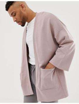 asos-design-jersey-kimono-cardigan-in-pink by asos-design