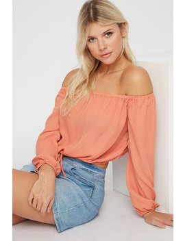 off-the-shoulder-cropped-long-sleeve-blouse by urban-planet