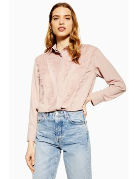 lace-shirt by topshop