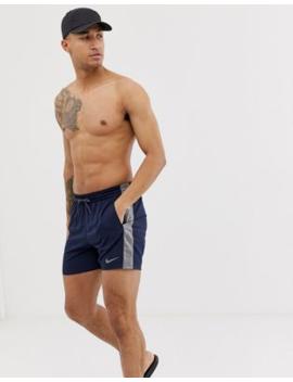 14009ea923 Shoptagr | Nike Super Short Swim Shorts With Side Tape In Navy ...