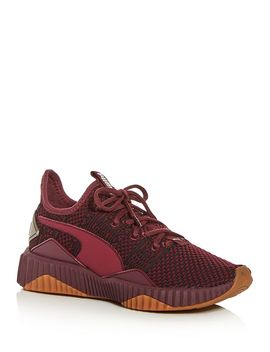 womens-defy-luxe-knit-low-top-sneakers by puma