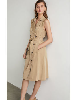sleeveless-trench-flared-dress by bcbgmaxazria