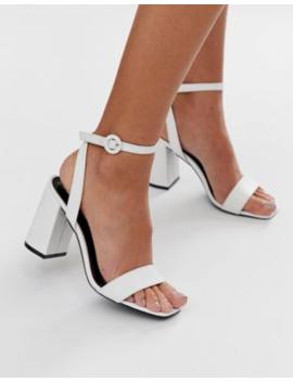 raid-wink-white-square-toe-block-heeled-sandals by raid