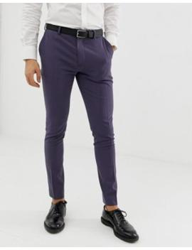 asos-design-super-skinny-smart-trousers-in-slate-blue by asos-design