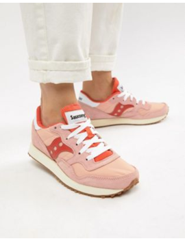 saucony-dxn-vintage-pink-and-red-sneakers by saucony