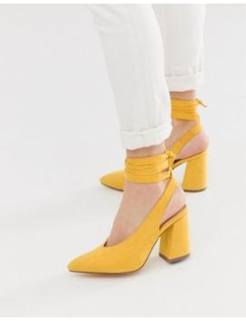 london-rebel-pointed-block-heel-tie-leg-shoes by shoes