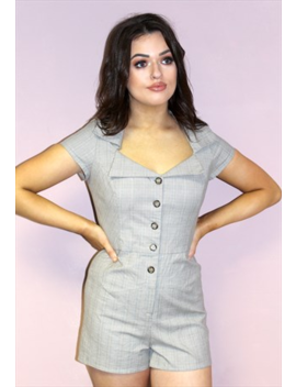 90s-vintage-grey-brown-check-tailored-fitted-playsuit by pretty-disturbia