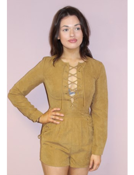vintage-style-brown-jumpsuit-with-laceup by pretty-disturbia