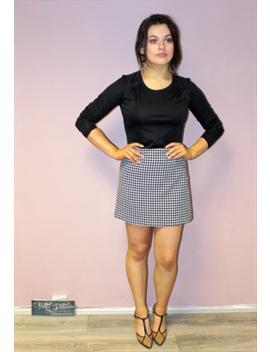 80s-vintage-mono-houndstooth-a-line-retro-mini-skirt by pretty-disturbia