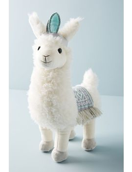 lucy-the-llama-stuffed-animal by anthropologie