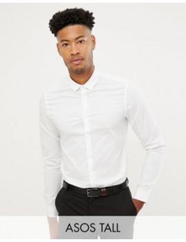asos-design-tall---chemise-slim-stretch-habillée---blanc by asos-design