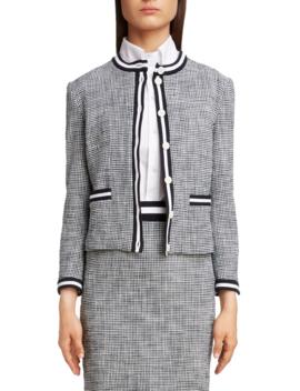 stripe-tweed-cardigan by thom-browne