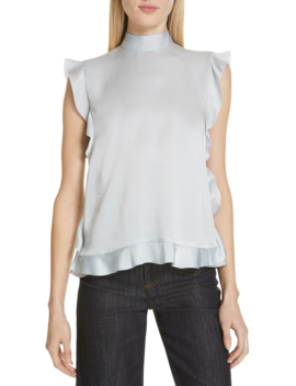 ruffle-trim-satin-top by red-valentino