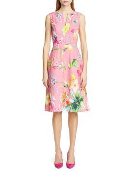 floral-cocktail-dress by carolina-herrera