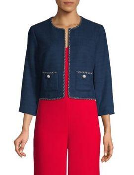 cropped-tweed-jacket by karl-lagerfeld-paris
