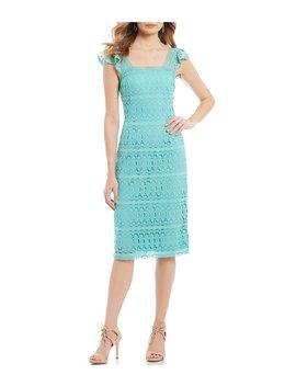 e782d44c751d Shoptagr   Cameron Square Neck Flutter Cap Sleeve Midi Dress by ...