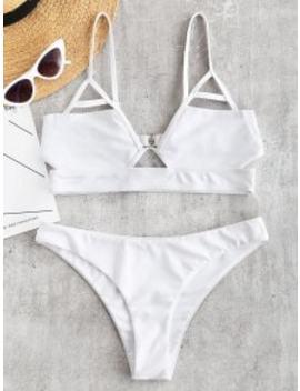 8f9346350d ZAFUL. HOT ZAFUL Cut Out Bralette Bikini Set - White L