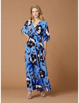 Eloise Silk Maxi Wrap Dress by Dvf