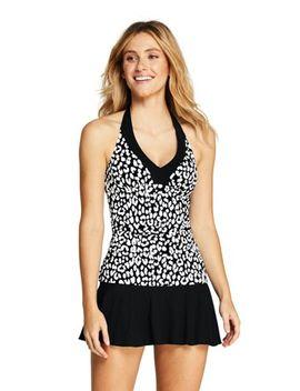 1c057cbee15 Shoptagr | Women's V Neck Halter Tankini Top Swimsuit Print by Lands ...