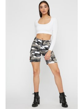 Camo Longline Cargo Short by Urban Planet