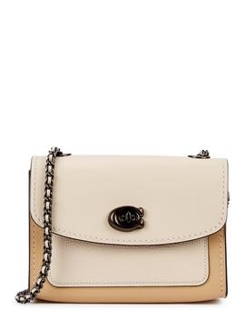 60360591210 Shoptagr   Parker 18 Ivory Leather Shoulder Bag by Coach