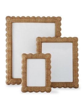 Aerin Wicker Scalloped Gallery Frame by Williams   Sonoma