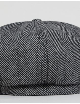 51f6c99bc264a ASOS DESIGN. ASOS DESIGN BAKER BOY HAT IN OVERSIZED BLACK HERRINGBONE