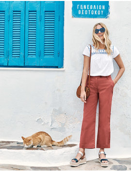 Helena Cropped Chino Pants by Boden