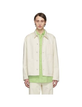 Norse Projects Off White Denim Tyge Jacket by Ssense