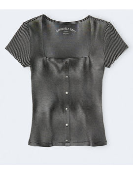 seriously-soft-striped-ribbed-bodycon-top by aeropostale