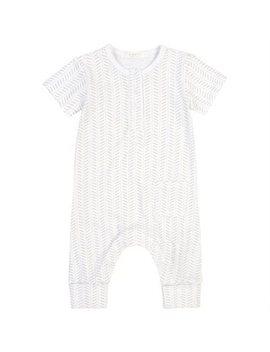 Petit Lem Romper White Grey Newborn 3 Months by Petit Lem