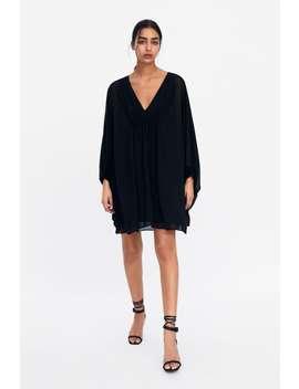 996e3eafeb shirred-cape-sleeve-dress--new-inwoman by zara