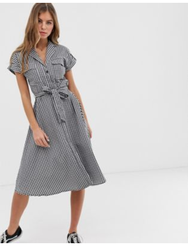 f87fce34dd98 Shoptagr | Oasis Shirt Dress With Belt In Gingham by Oasis