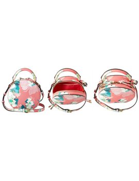 Love And Lore Sophia Round Crossbody Bag Capri Floral Pink by Love & Lore