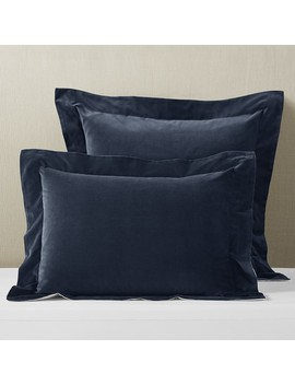 Classic Velvet Sham, King, Navy by Williams   Sonoma