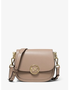 Lillie Small Leather Saddle Bag by Michael Michael Kors