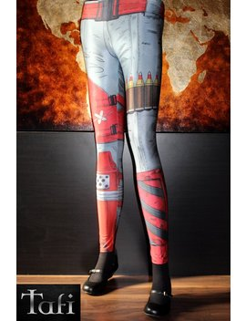 TAFI Borderlands Leggings - 2K Sci-Fi Video Game-inspired Body Armor  Costume Yoga Pants CosPlay Designer Print