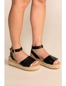 28d31811dbc3 Beautiful Day Black Platform Sandals by Priceless