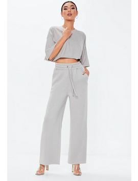 silver-drop-shoulder-oversized-crop-top by missguided
