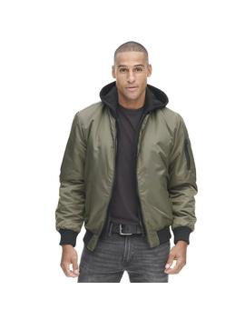 Satin Bomber W/ Hood by Wilsons Leather