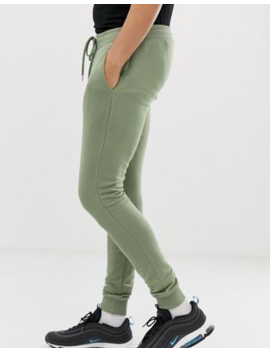 c559556d3a3e33 Shoptagr | Asos Design Super Skinny Joggers 2 Pack Black / Green by ...