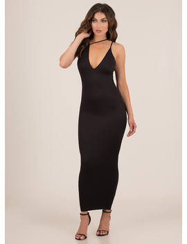 3 Straps You're Out Asymmetrical Maxi by Go Jane